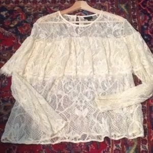 Who What Wear lace blouse
